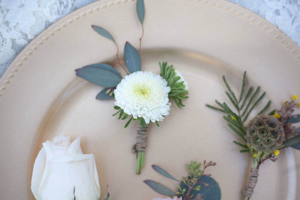 Check out these boutonnieres! There is one for each personality.