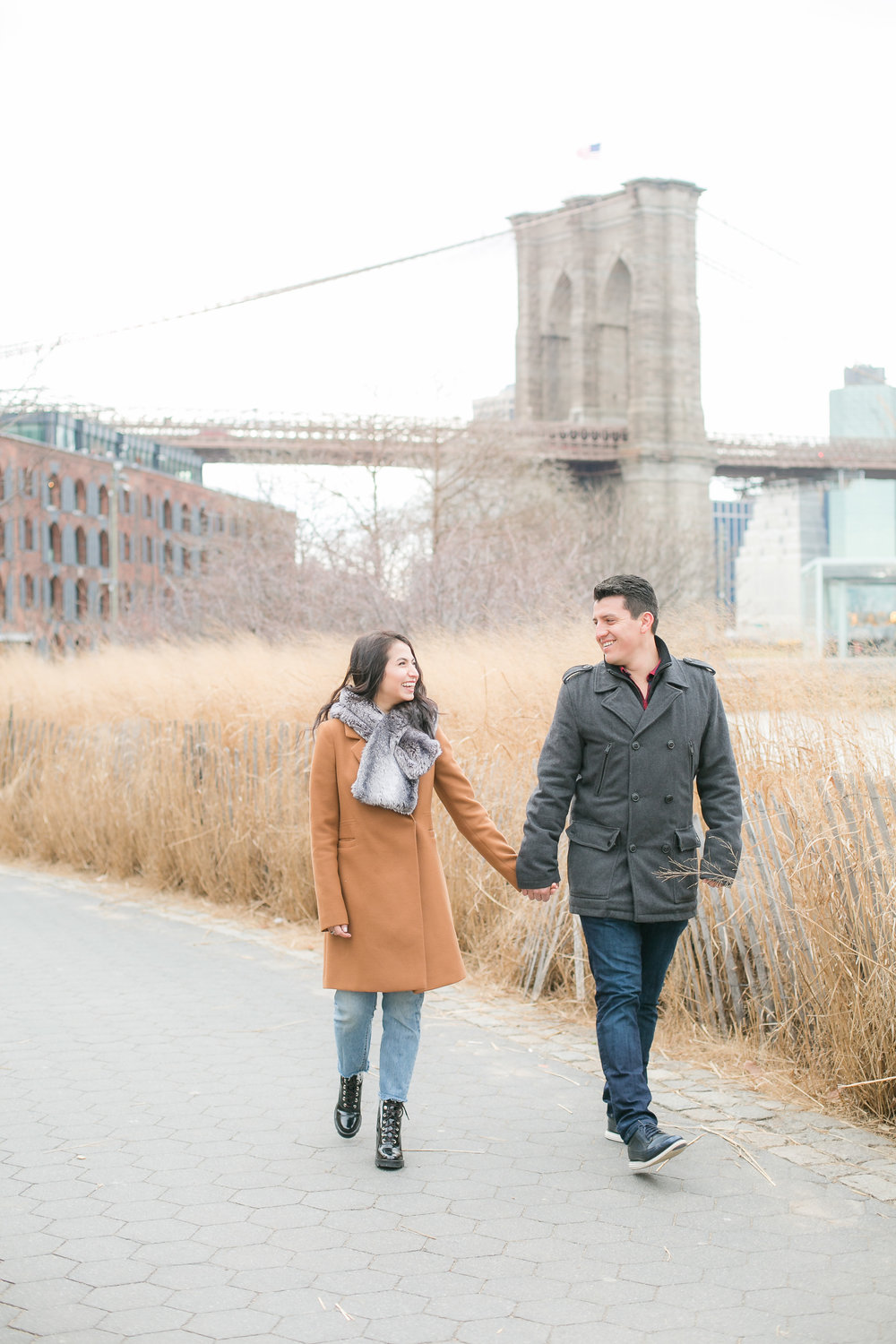 The experience of capturing a love story in New York was something worth freezing my fingers over since I hard time handling and setting my camera settings on with gloves.