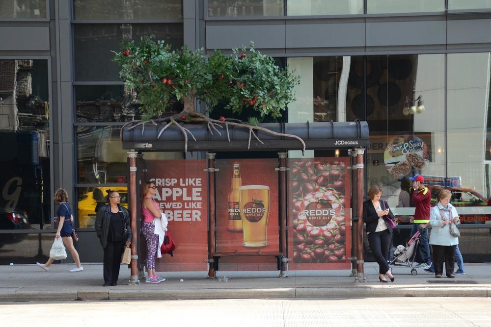 Redd's Apple Ale Bus Shelter Tree Topper