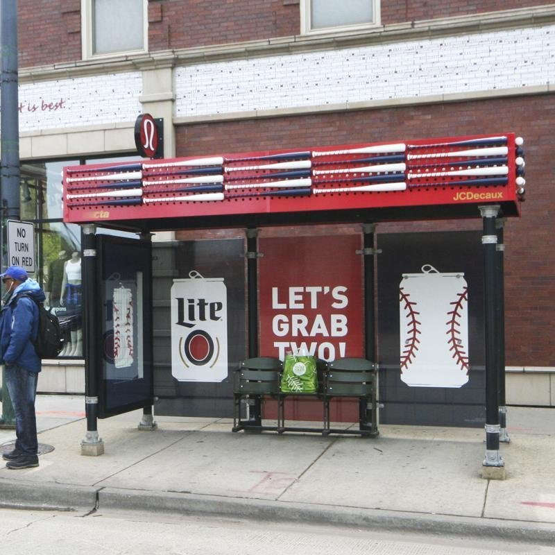 Miller Lite Shelter Extension, Showcase, and Bench Replacement