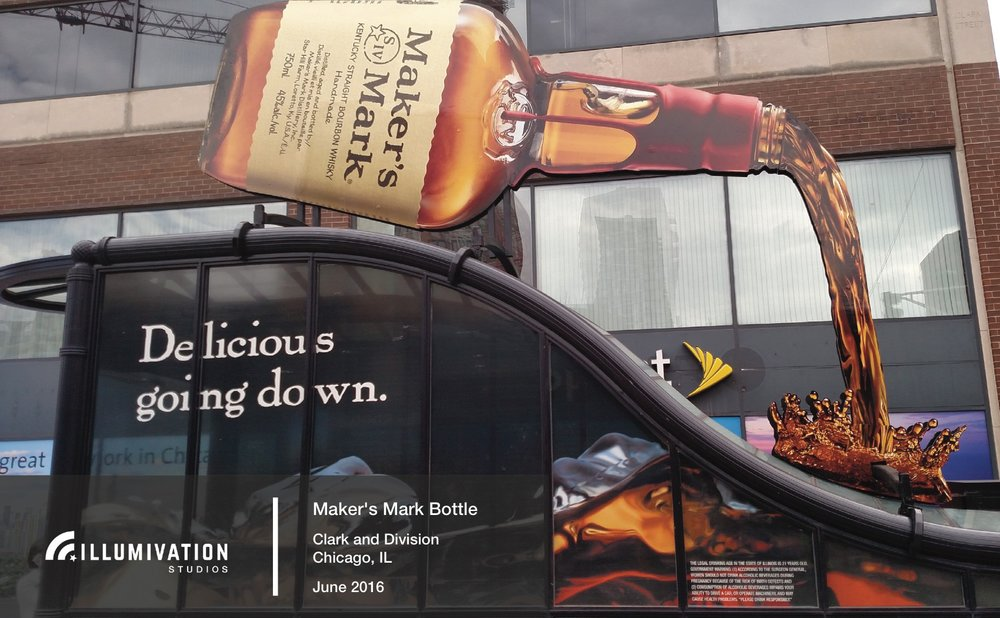 Illumivation Portfolio 2017 Maker's Mark Giant Bottle Intersection Chicago Creative Outdoor Advertising OOH Out of Home Marketing.jpeg
