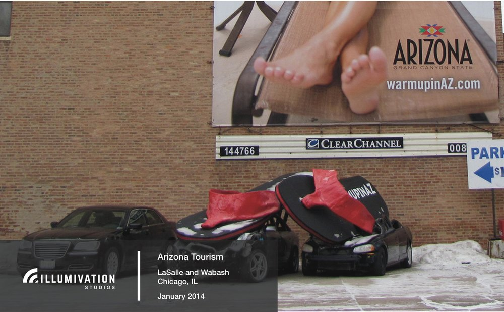 Illumivation Portfolio 2017 Arizona Giant Flipflops crushing car Chicago Creative Outdoor Advertising OOH Out of Home Marketing.jpeg