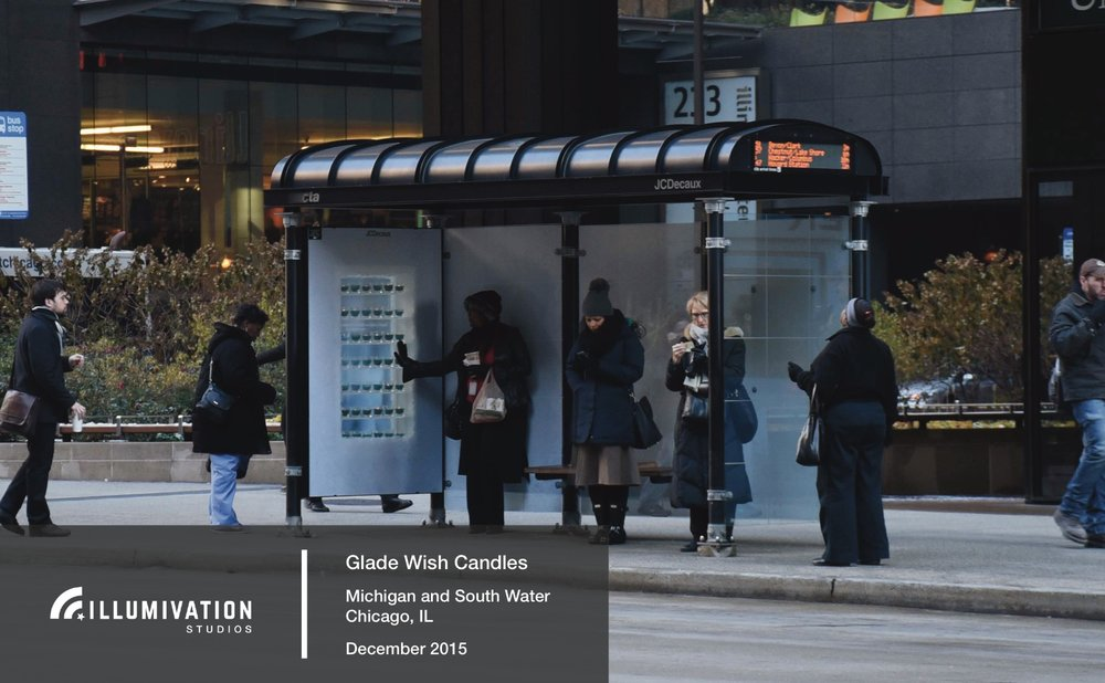 Illumivation Portfolio 2017 Glade Touchscreen Innovate JCDecaux Shelters Chicago Creative Outdoor Advertising OOH Out of Home Marketing.jpeg