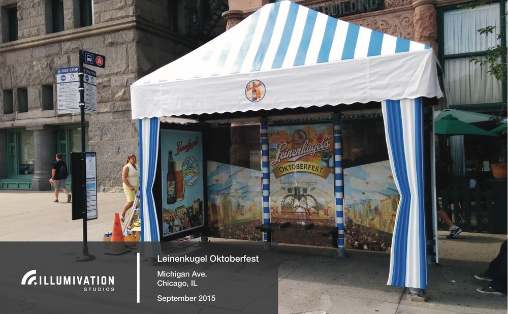 Illumivation Portfolio 2017 Leinenkeugel Oktoberfest Innovate JCDecaux Shelters Chicago Creative Outdoor Advertising OOH Out of Home Marketing.jpeg