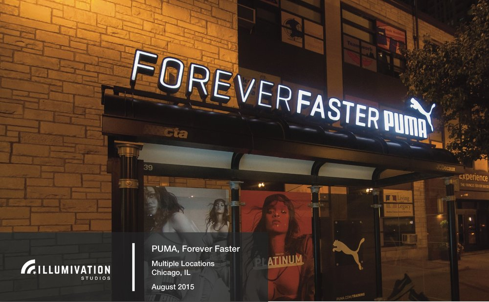 Illumivation Portfolio 2017 Puma Lights Innovate JCDecaux Shelters Chicago Creative Outdoor Advertising OOH Out of Home Marketing.jpeg