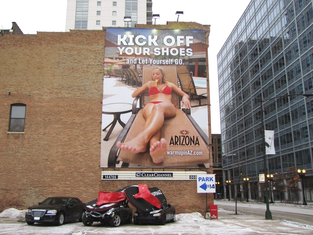 Illumivation Portfolio 2017 Arizona Giant Flipflops crushing car Chicago Creative Outdoor Advertising OOH Out of Home Marketing.jpg