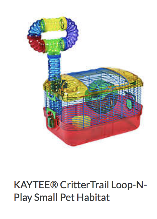 Kaytee Critter Trail Loop-N-Play Small Pet Habitat - Not appropriate size wise for rats. Cannot be used as a carrier.