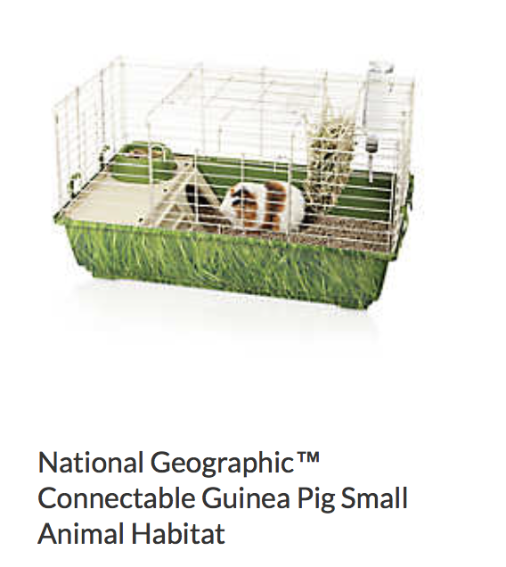 National Geographic Connectable Guinea Pig Small Animal Habitat - Not appropriate size wise for rats. Fine as a carrier, but not for baby rats. Bar spacing is too large.
