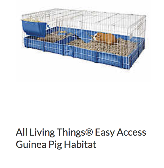 All Living Things Easy Access Guinea Pig Habitat - Not appropriate size wise for rats. Fine as a carrier, bar spacing may be too big for babies.