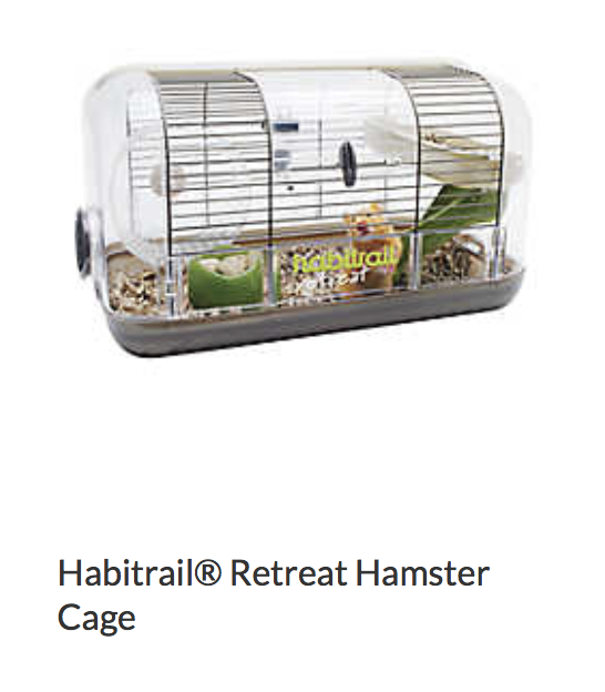 Habitrail Retreat Hamster Cage - Not appropriate size wise for rats. Appropriate as a carrier.