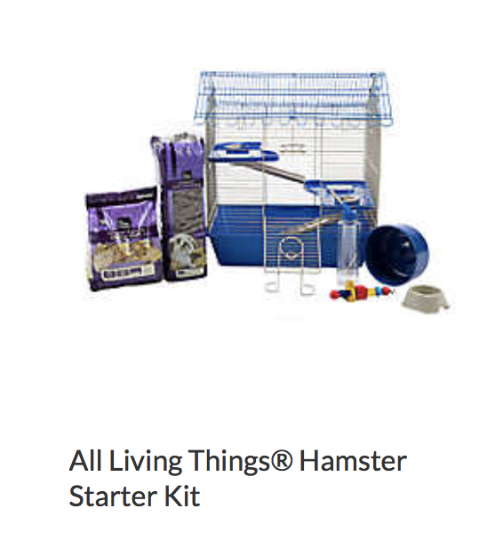 All Living Things Hamster Starter Kit - Not appropriate size wise for rats. Appropriate as a carrier.