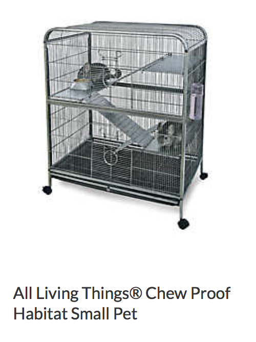 Best bedding for this cage: Fleece coverage for shelves Aspen or paper bedding in bottom bin  Pros: Good size - fits 6 rats Easy to hang hammocks  Cons: Hard to clean shelves Pan in the bottom can be chewed out of. Not really chew proof.