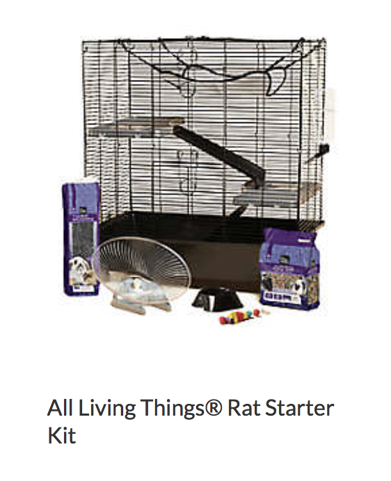 Best bedding for this cage: Fleece coverage for shelves Aspen or paper bedding in bottom bin  Pros: Good size - fits 2-3 rats Easy to hang hammocks  Cons: Hard to clean shelves Pan in the bottom can be chewed out of. Not really chew proof. Food that comes with cage is inappropriate for rats and should be thrown out.