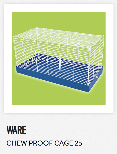 Ware Chew Proof Cage 25 - Not appropriate size wise for rats. Fine as a carrier.