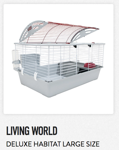 Living World Deluxe Habitat Large Size - Not appropriate size wise for rats. Fine as a carrier.