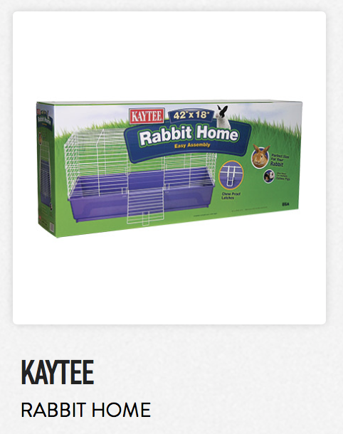 Kaytee Rabbit Home Not appropriate size wise for rats. Fine as a carrier.