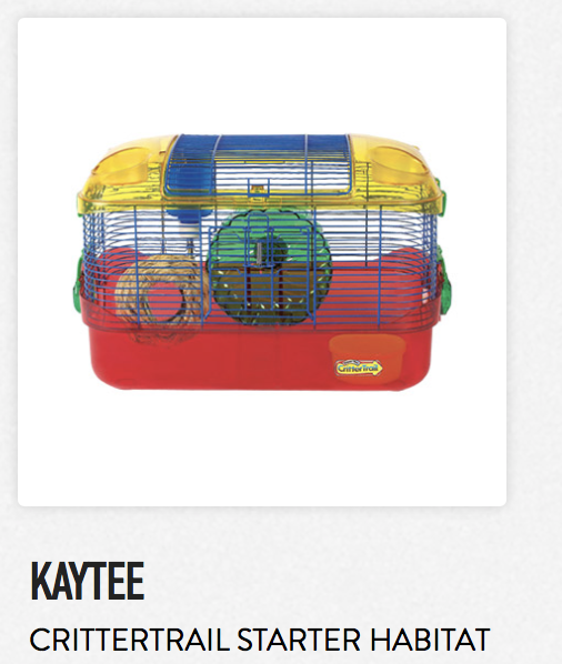 Kaytee Crittertrail Starter Habitat - Not appropriate size wise for rats. Fine as a carrier if wheel is removed.