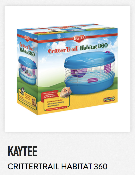 Kaytee Crittertrail Habitat 360 - Not appropriate size wise for rats. Fine as a carrier if wheel is removed.