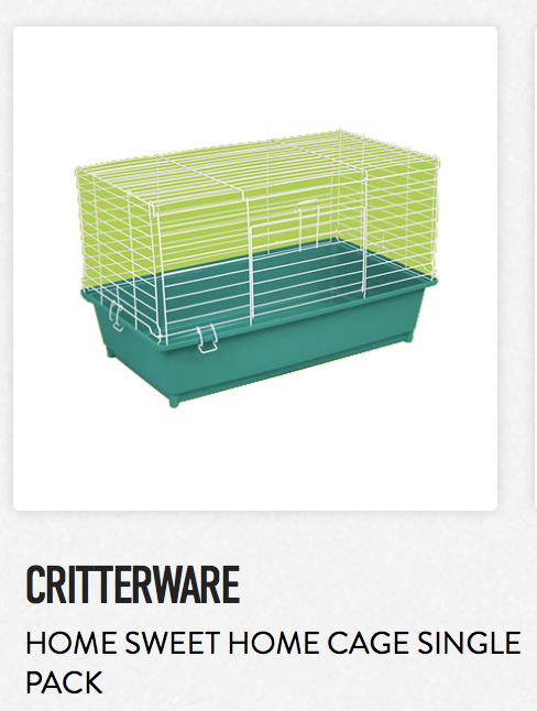 Critterware Home Sweet Home Cage Single Pack - Not appropriate size wise for rats. Fine as a carrier.