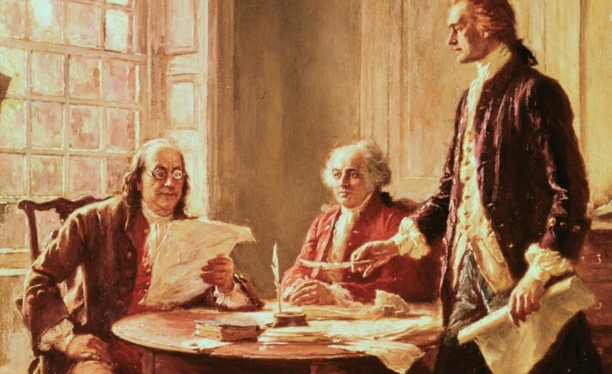 Ben Franklin :You guys want to check out my new piece of literotica?   Thomas Jefferson : It better have a black chick in it this time