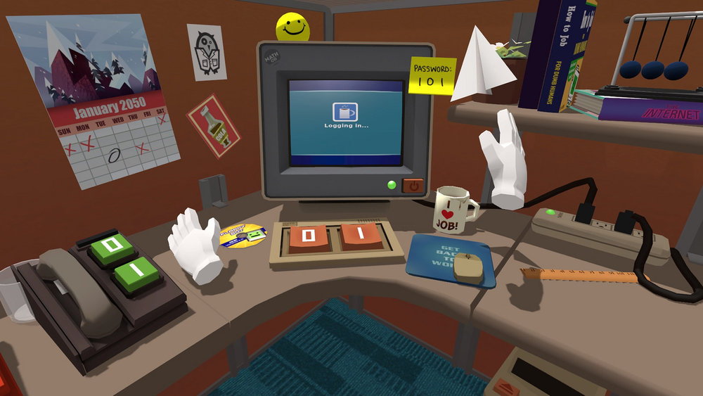 You sit at a desk all day at work? Now you can do that in VR! Joking aside, this game is a ton of fun.