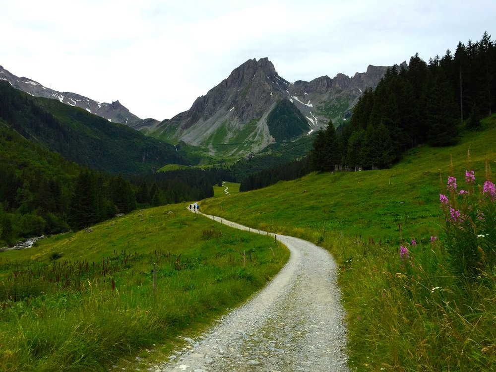 The hike up the Col du Bonhomme takes you along an old Roman road. This hike must have been fun in Roman sandals.
