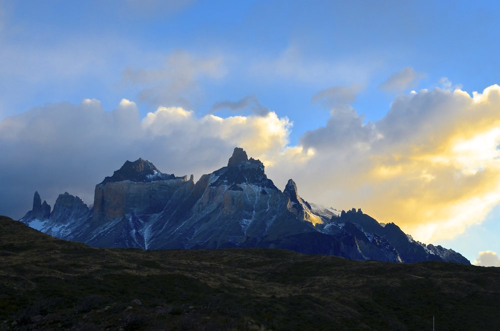 Hiking towards the French Valley in Torres del Paine.