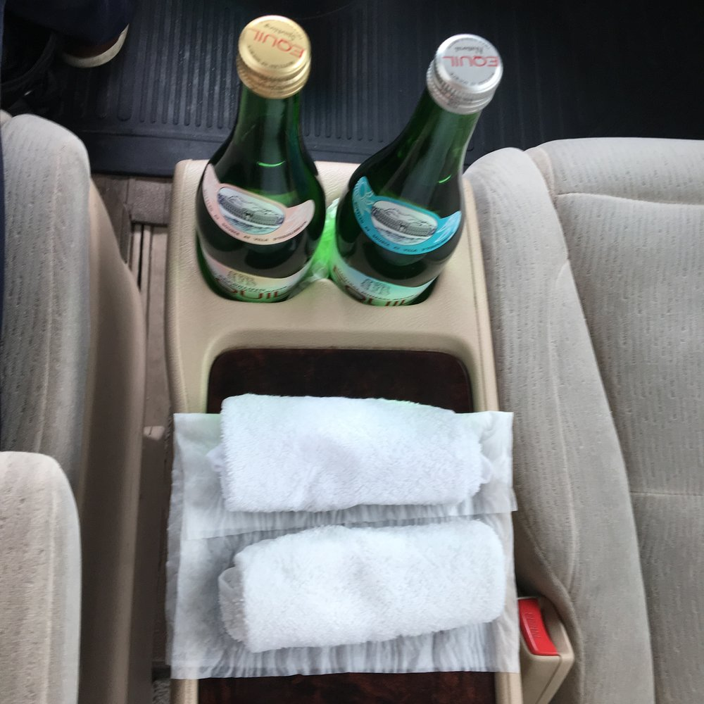The water and cold towels thanks to Garuda's limo service were glorious.
