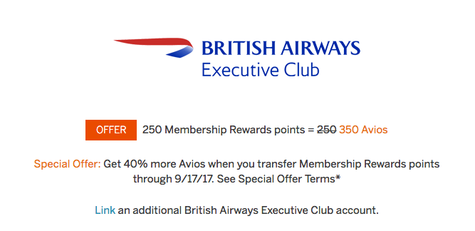 Amex transfer bonus promos are a great time to transfer Membership Rewards if you need an award flight.