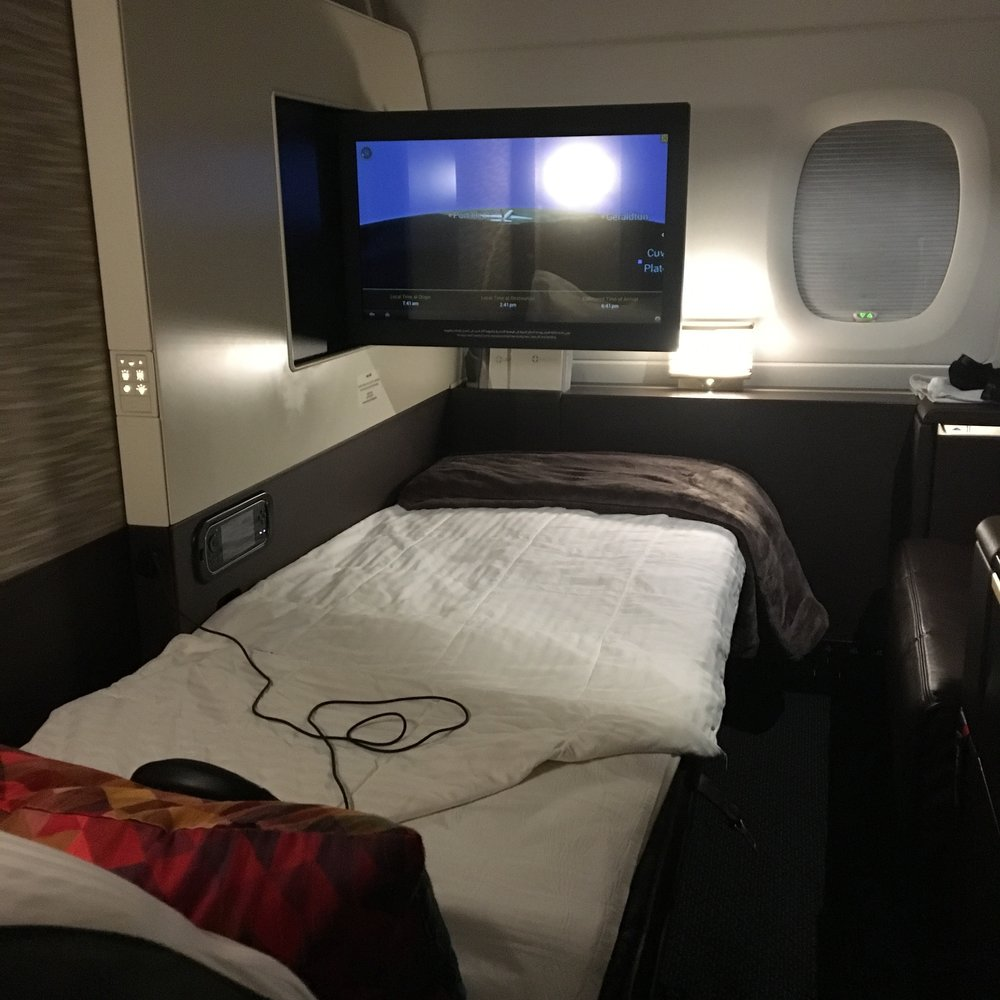 Etihad Airways first class cabin on the Airbus A380, known as The Apartments, is an aspirational travel goal.