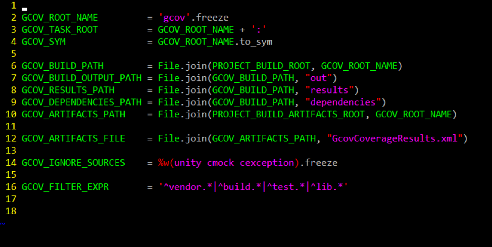 Modifications to the gcov_constants.rb file to enable XML report generation.