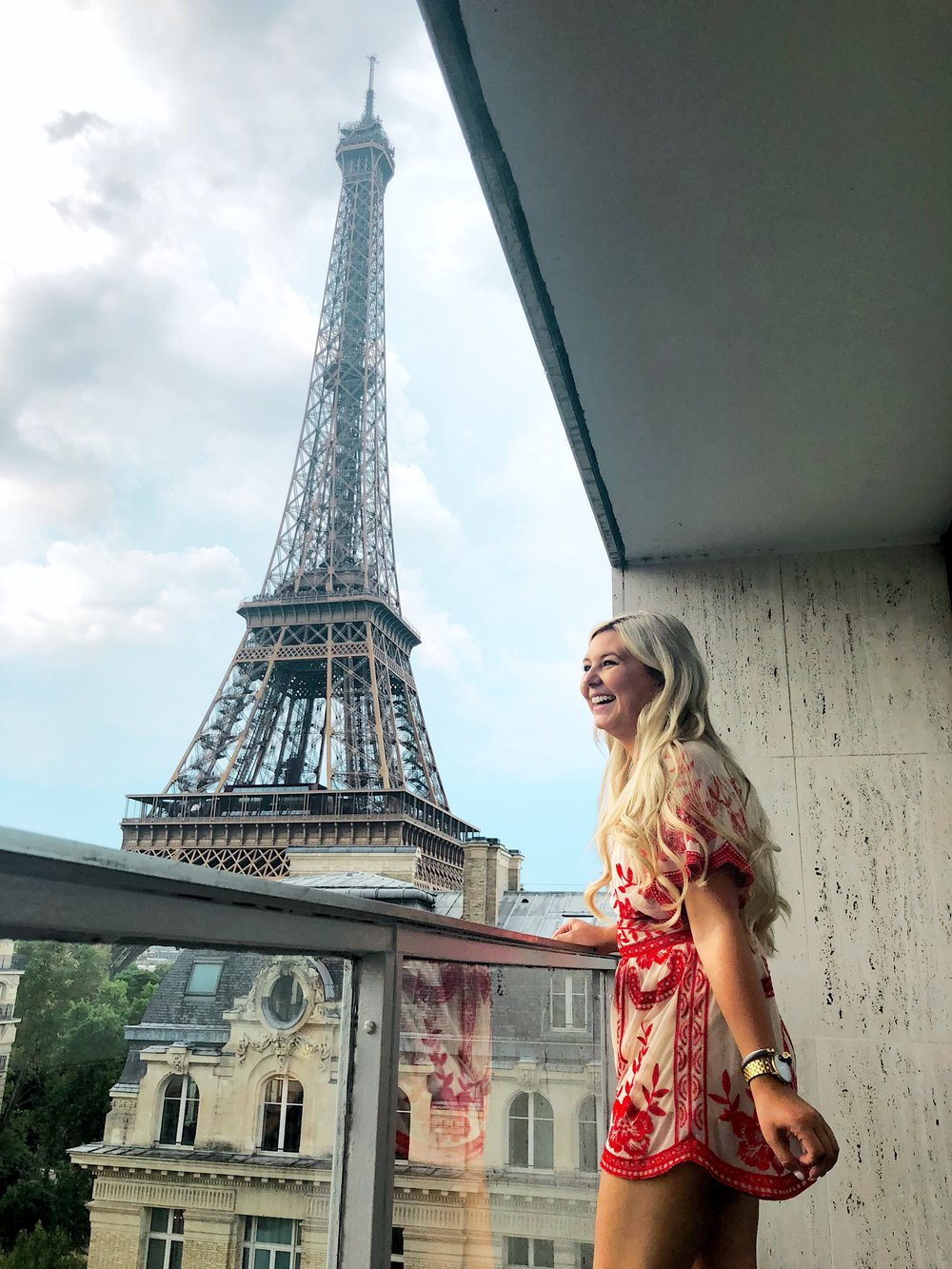 Romance in Paris  - The cutest little romper bought at Magnifique Charleston!  @magnifiquecharlestonBracelet is @thestyledcollectionWatch is Nixon