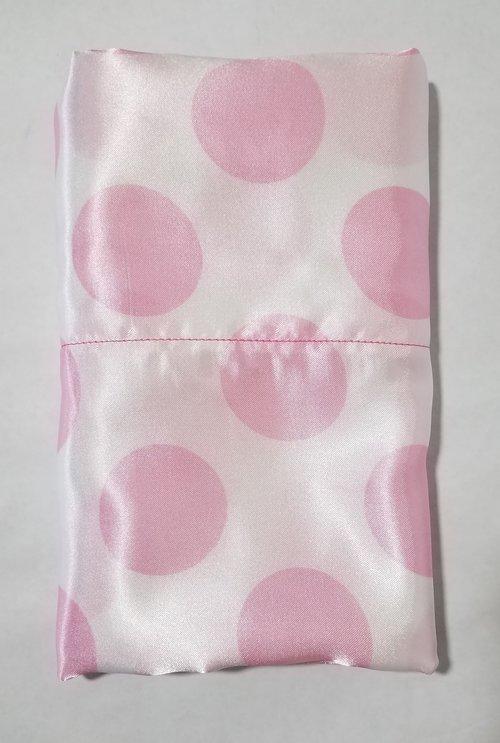 Polka Dot Pillowcases New Pink On White Dots Satin Pillowcase NPTressTreats