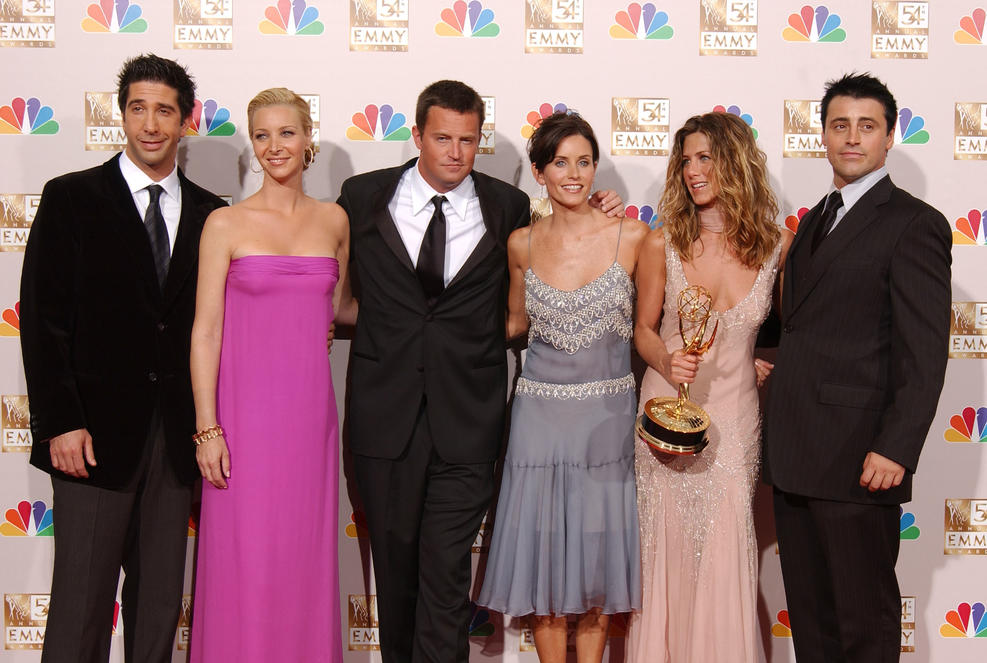 "Getty Images.  The cast of ""Friends."""