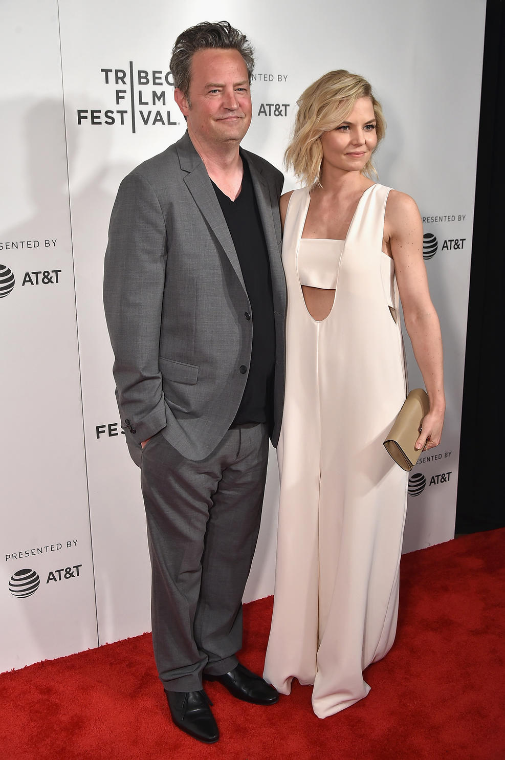 "Getty Images.  Matthew Perry and Jennifer Morrison attend ""The Circle"" Premiere at the BMCC Tribeca PAC on April 26, 2017 in New York City. )"