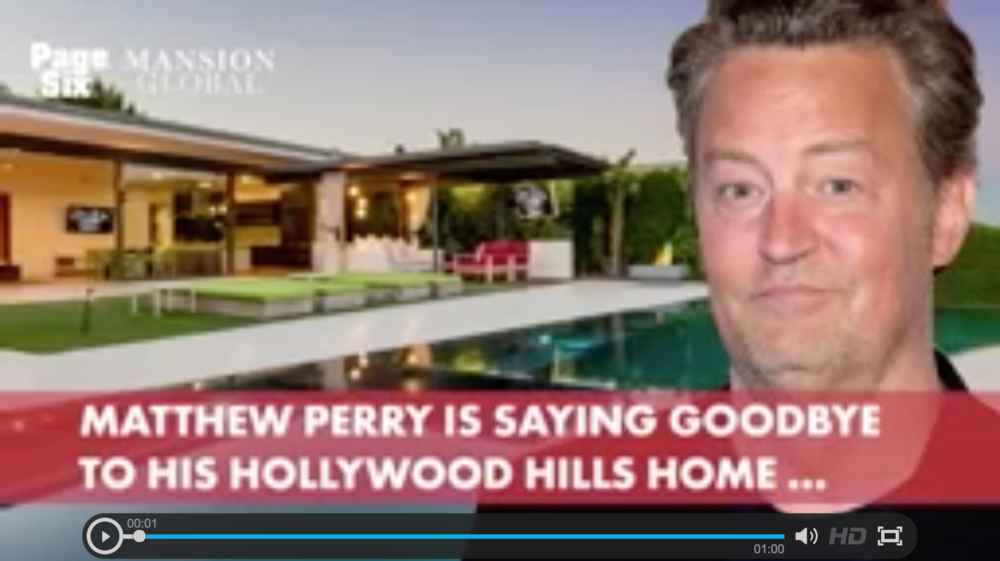 "Could Matthew Perry's house be any nicer? The ""Friends"" star is listing his modern home in the Hollywood Hills, with views of downtown LA, a screening room and an infinity pool, for $13.5 million."