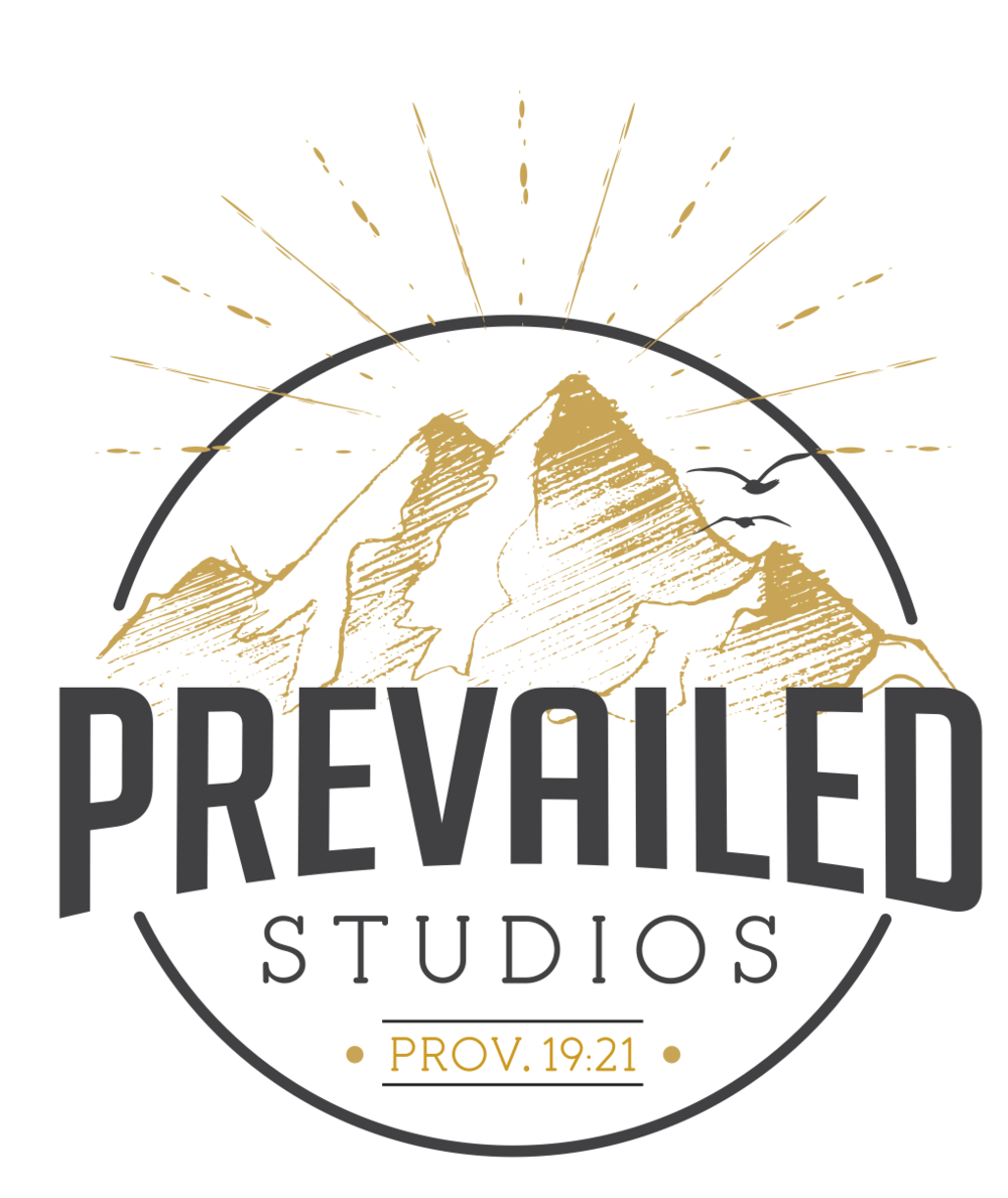 "Final Logo:  After many revisions, Kristen started from scratch. We started with the mountains, which really is the main imagery in our logo. These mountains have more of an artistic and ""Sketchy"" look. This better represents the artistry behind everything we create. then came ""prevailed"". We wanted our name to be clear and powerful. Overall this design was the exact style we had imagined. but this goes to show you that great ideas don't flourish overnight. They take lots of work and thought. We are so happy with how it turned out!"