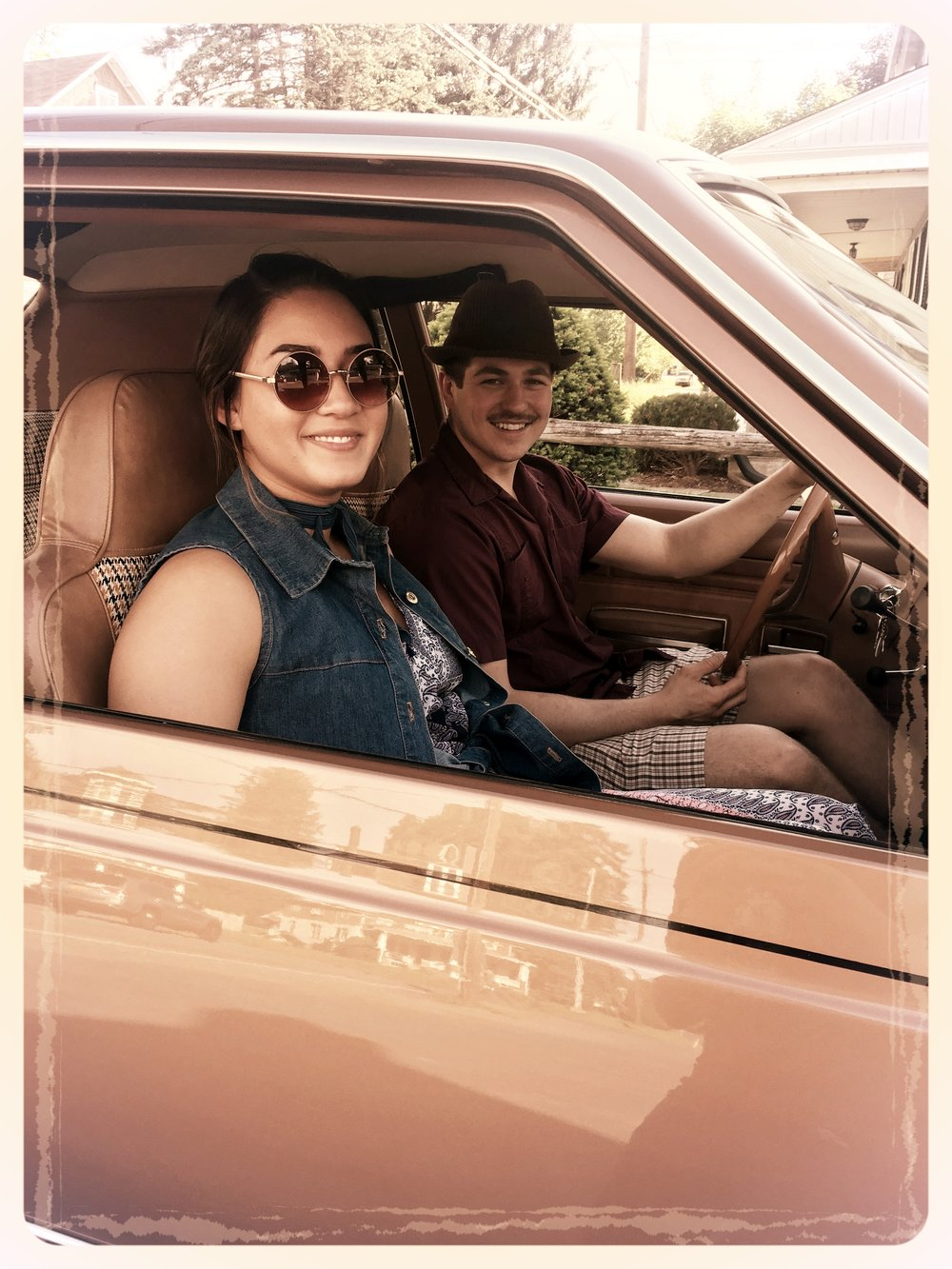 Allie & Nick, played the younger couple in the story. They really nailed the 70s look!