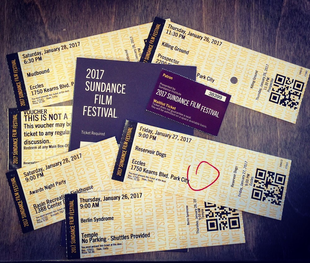 2017 Sundance tickets