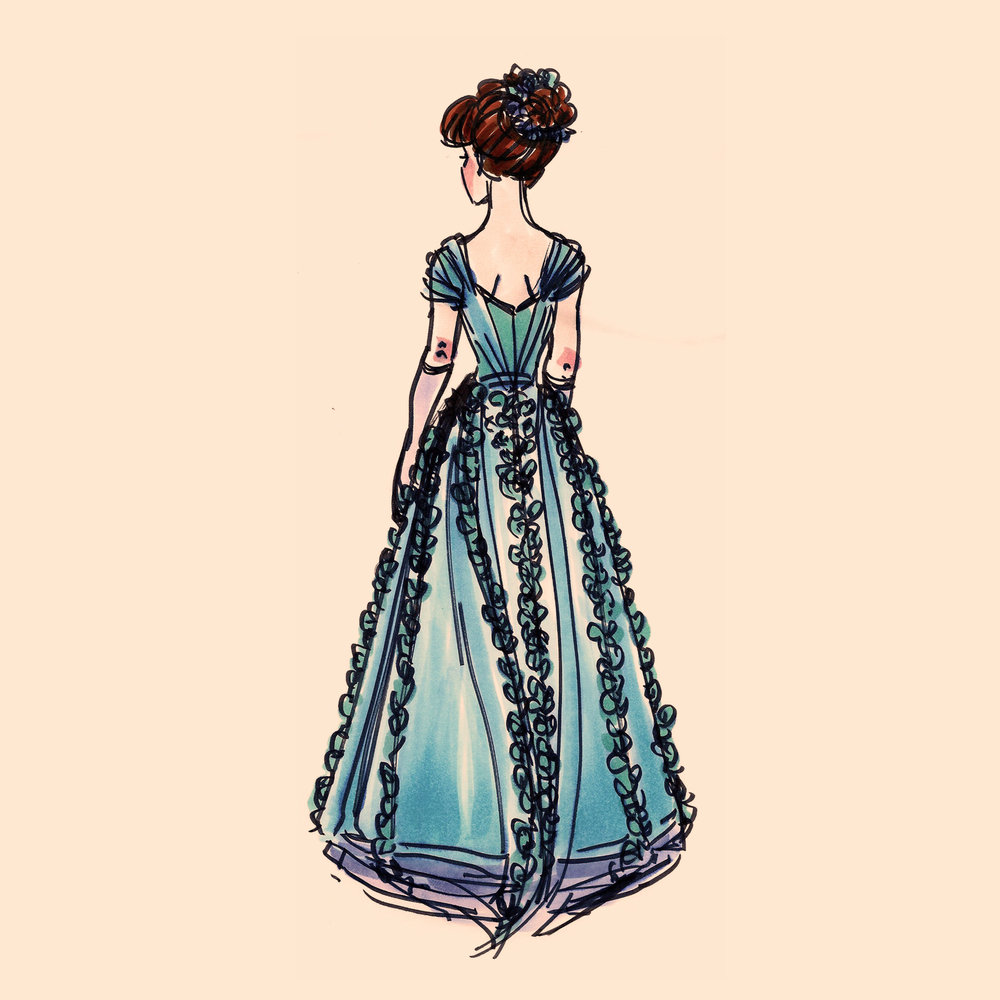 A blue dress