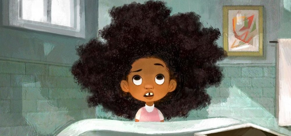 Original artwork by Maria Yi HAIR LOVE, Sony Pictures Animation, Dir. Matthew A. Cherry & Everett Downing
