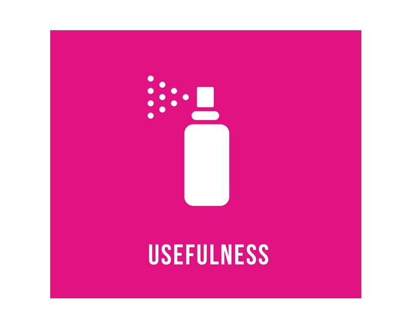 用途   / USEFULNESS   使用用途に応じて、衣類用、ペット用、標識用の3タイプの製品を提供しています。