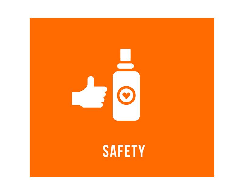 安全性 / SAFETY Albedo100はスウェーデンで開発された製品です。世界基準の厳しい品質テストを合格し、安全性の高い製品として提供されいます。