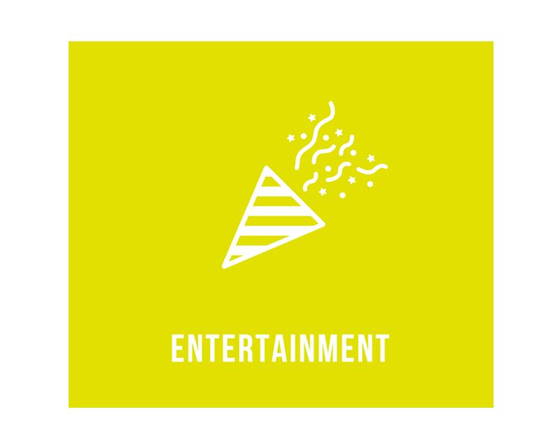 エンターテインメント / ENTERTAINMENT あなたの想像力次第で、コンサート、ナイトパーティー、ハロウィンやクリスマスなどエンターテイメント性の高いシーンにおいてもご利用いただくことが可能です。