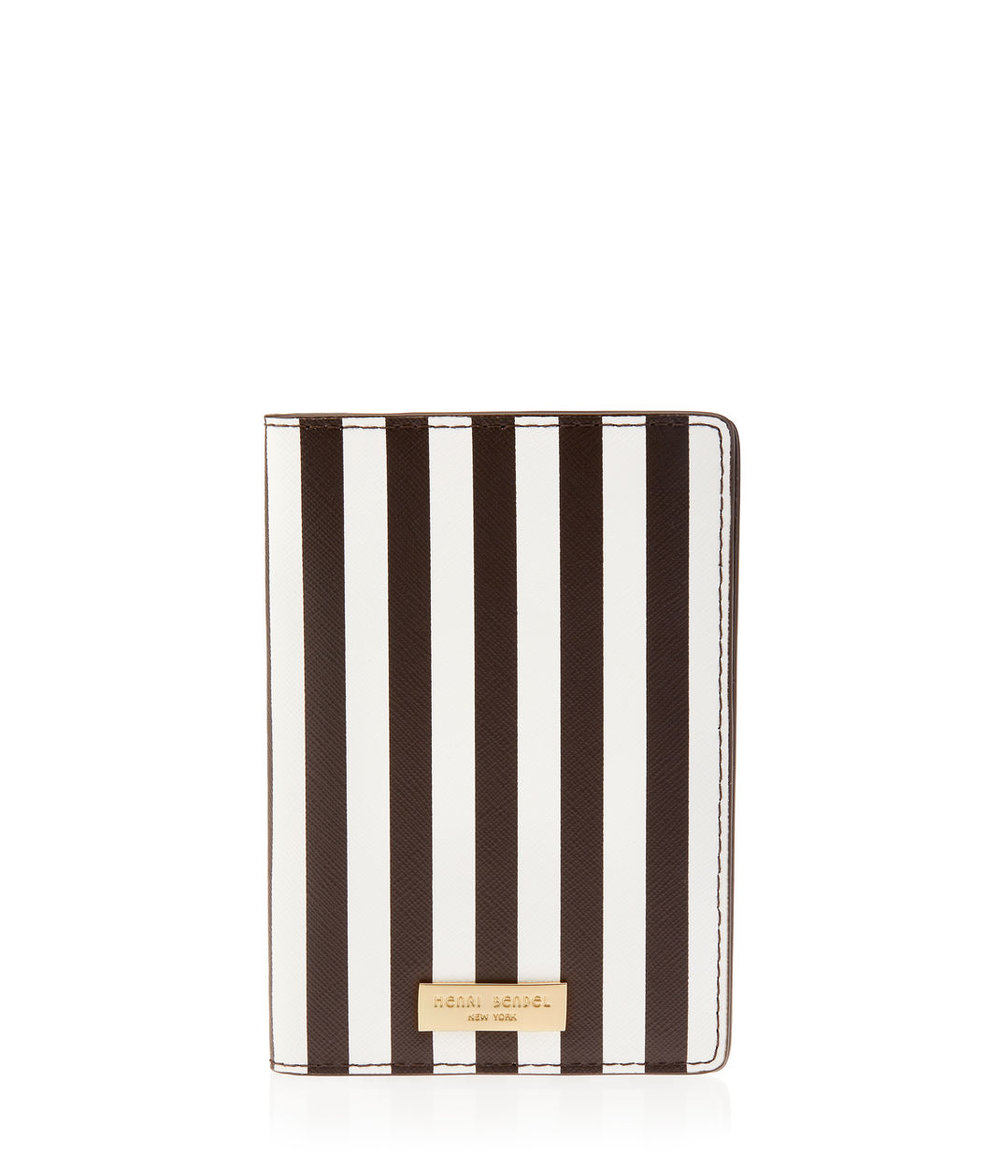 Henri Bendel New York Centennial Stripe Passport Cover ($58)