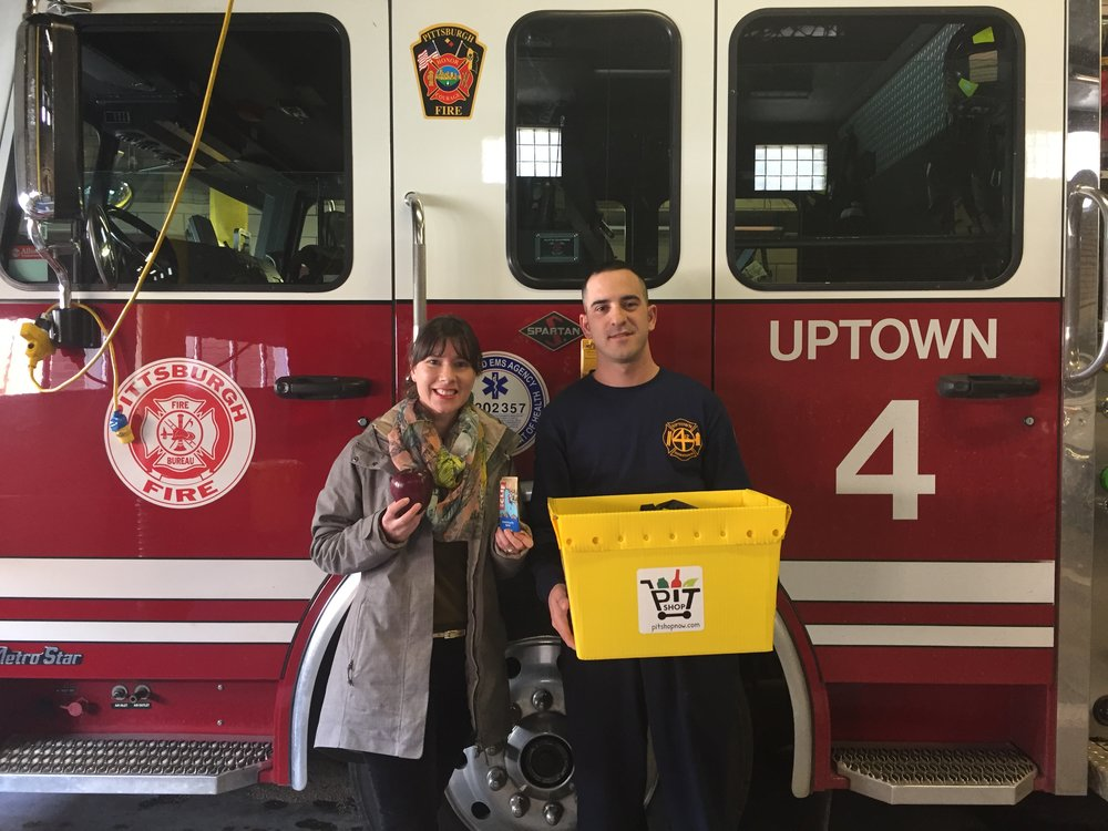 Fire department donation snacks & fruit box