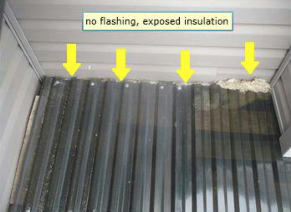 Calgary Home Inspector No flashing to protect