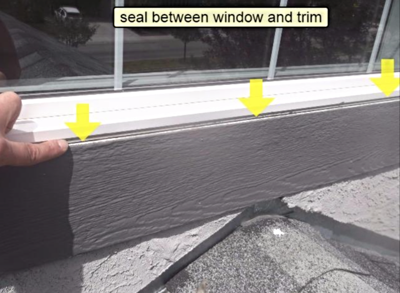 Calgary Home Inspector Seal trim to stop damage