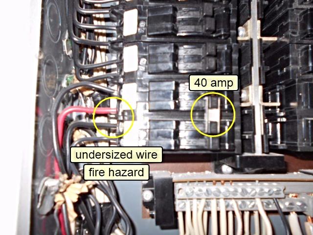 Home Inspector Calgary Serious electrical fire hazard home inspection