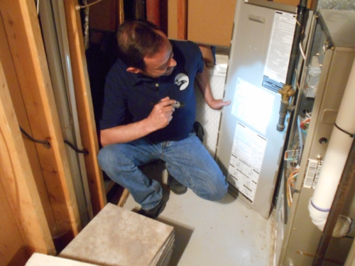 Checking the furnace for issues